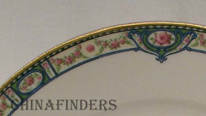 HAVILAND Limoges china SCHLEIGER 344 pattern Oval Serving Platter @ 13-5/8""