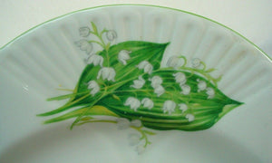 SHELLEY china LILY OF THE VALLEY 13822 Dainty CEREAL BOWL 6-1/4""