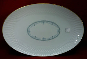 NORITAKE china LORENZO #6351 Large Oval Serving Meat Platter - 16-1/4""