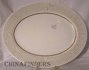 ROYAL ALBERT china CAPRI Oval Serving Platter 15""