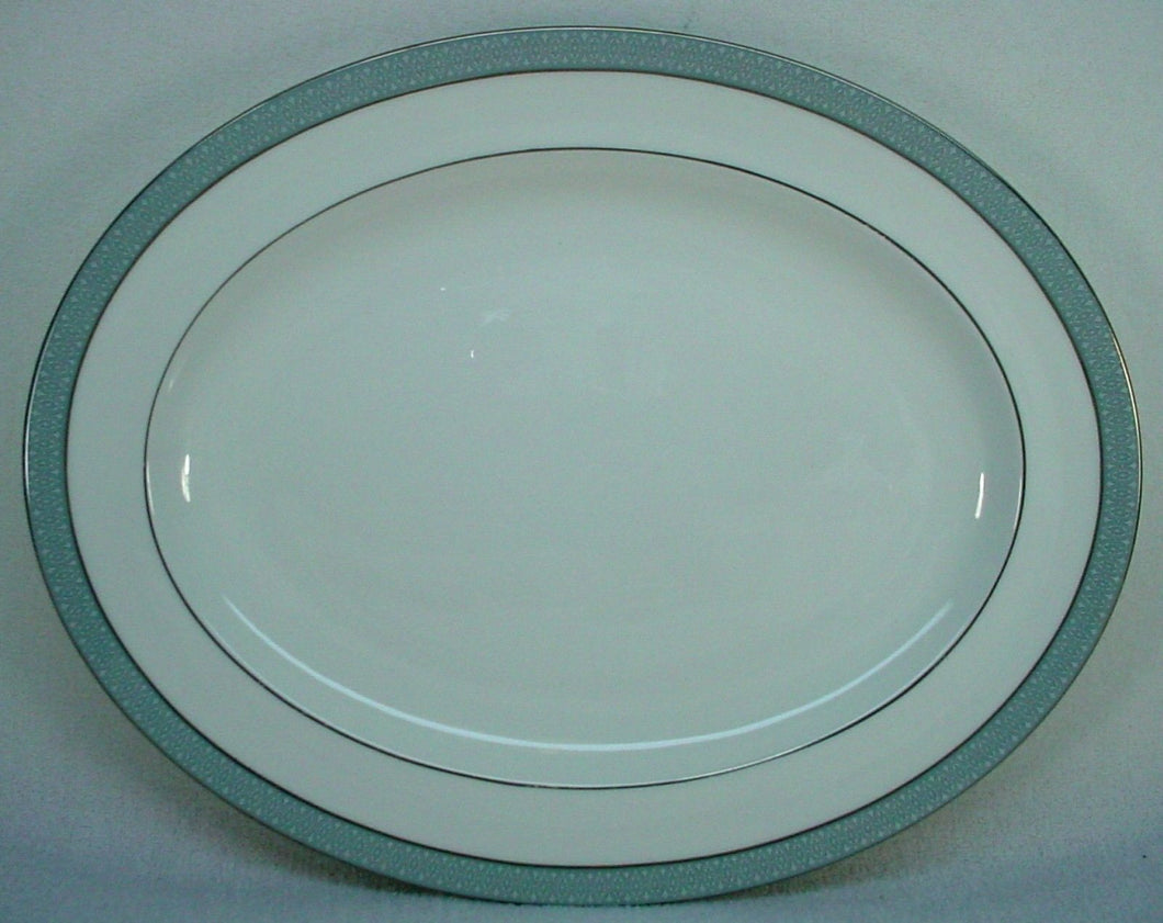 ROYAL DOULTON china ETUDE H5003 pattern OVAL MEAT Serving PLATTER 13-1/2
