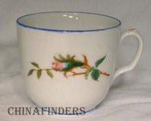 "HAVILAND Limoges china MOSS ROSE Blue Trim - Set of Two (2) Cups - 2-5/8"" tall"