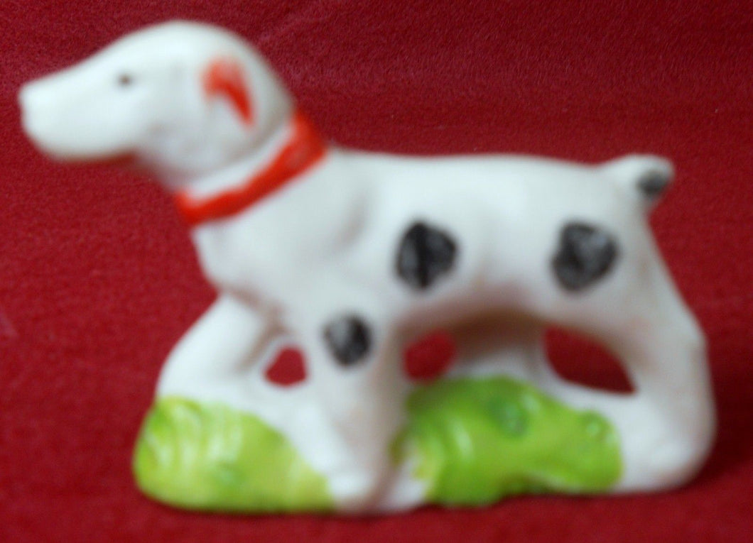 Vintage BISQUE Figurine - DOG Made in Japan - 1-3/4
