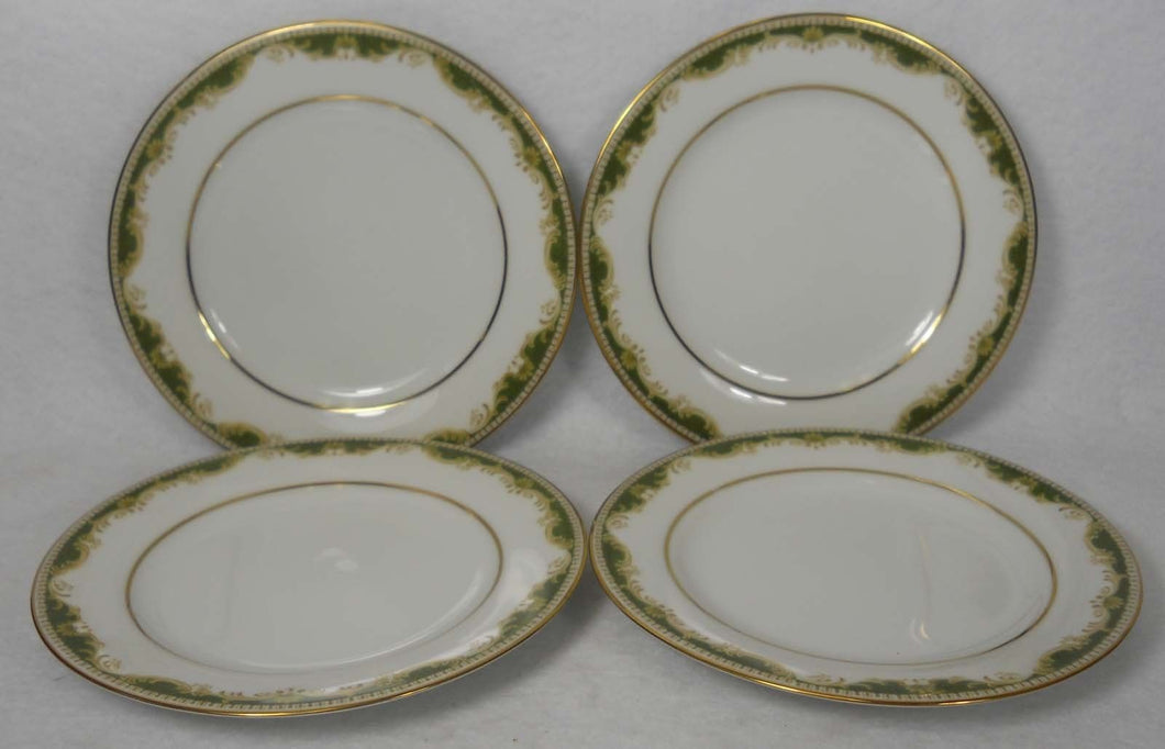 NORITAKE china WARRINGTON 6872 pattern Bread Plate - Set of Four (4) - 6-3/8