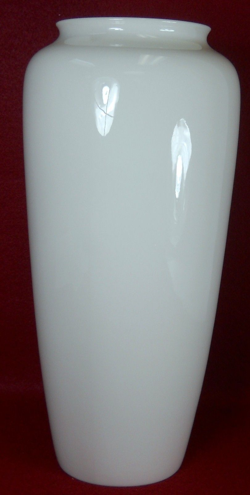 LENOX china Tall Off-White / Cream Wide Mouth VASE - 10-1/4