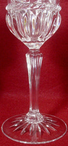 "CRISTAL d'ARQUES Durand crystal CARTHAGE pattern WATER GOBLET 8-1/2"" set of TWO"