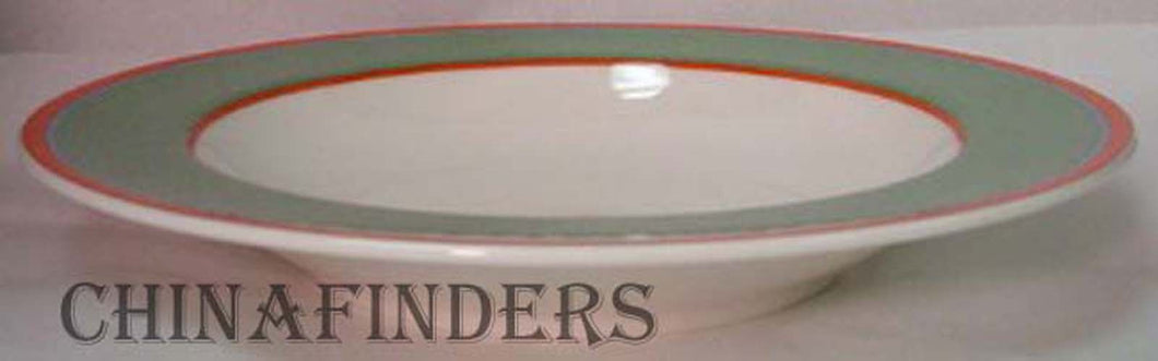 VILLEROY & BOCH china TIPO VIVA GREEN pattern Rim Soup/Salad Bowl @ 9