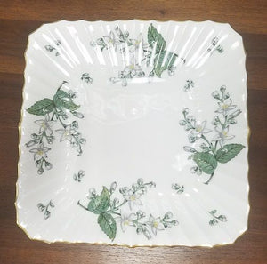 ROYAL WORCESTER china VALENCIA pattern square cake plate 9""