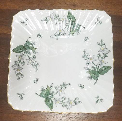ROYAL WORCESTER china VALENCIA pattern square cake plate 9