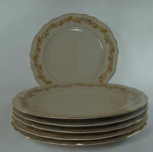FRANCONIA-KRAUTHEIM china FR23 pattern Set of Six (6) Dinner Plates @ 10""