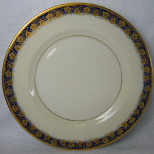 HAVILAND Limoge New York OAKMONT COBALT BLUE pattern Bread Plate - 6-3/8""