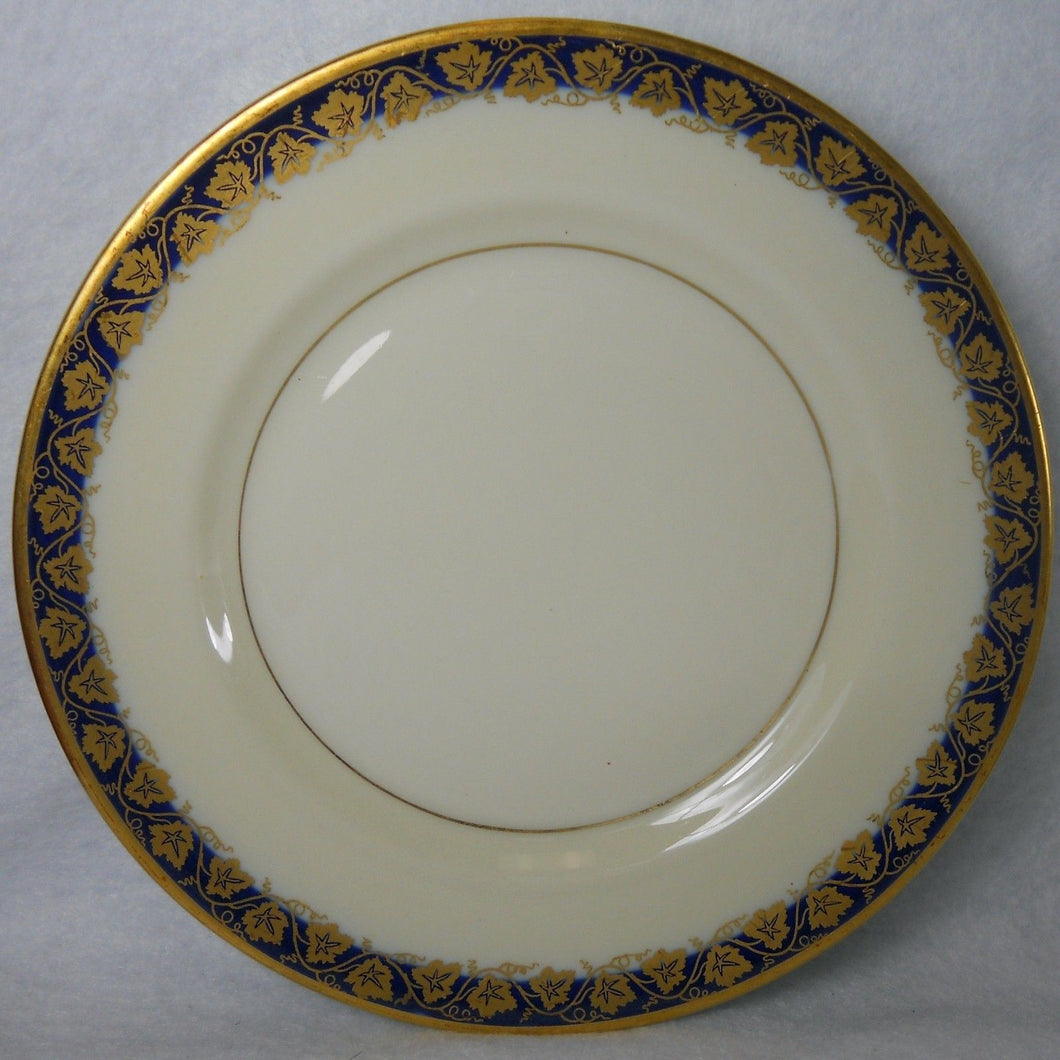 HAVILAND Limoge New York OAKMONT COBALT BLUE pattern Bread Plate - 6-3/8