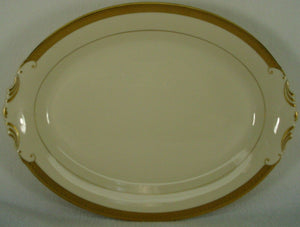 SYRACUSE china BRACELET pattern OVAL MEAT Serving PLATTER - 14""