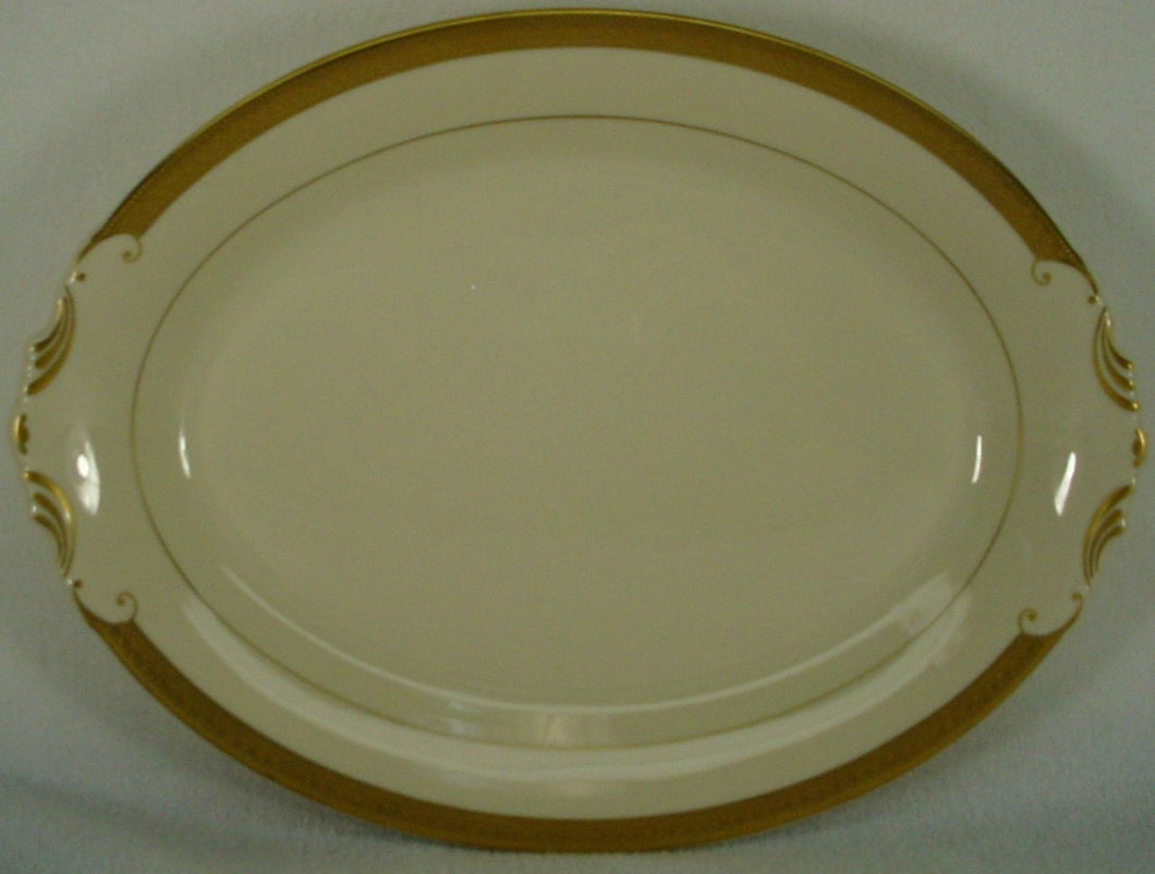 SYRACUSE china BRACELET pattern OVAL MEAT Serving PLATTER - 14