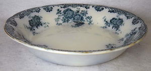 ALFRED MEAKIN china GLENMERE Blue-Green pattern Soup or Salad Bowl - 7-1/2""