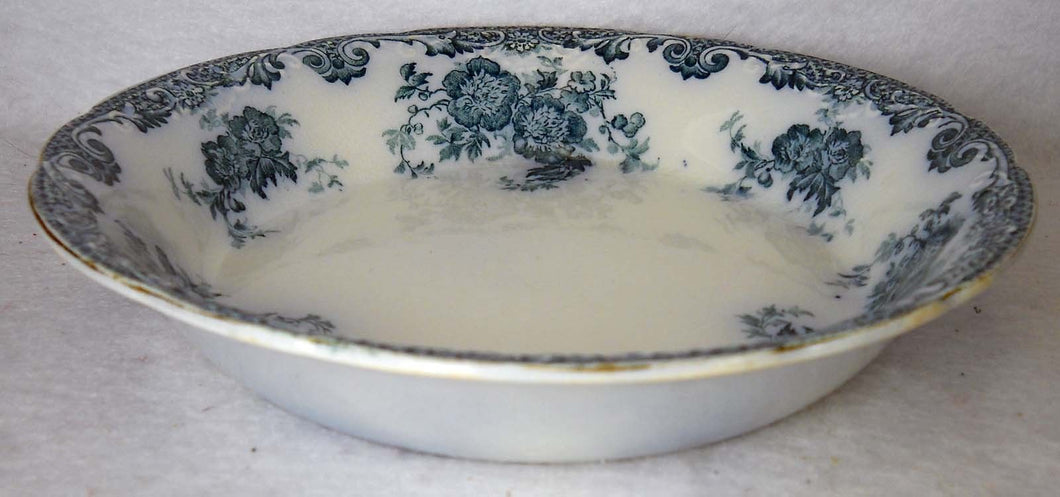 ALFRED MEAKIN china GLENMERE Blue-Green pattern Soup or Salad Bowl - 7-1/2