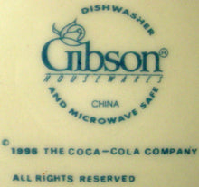 GIBSON DESIGNS china COCA COLA Stained Glass DINNER PLATE 10-5/8""