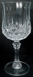 CRISTAL D'ARQUES Durand crystal LONGCHAMP Set of 2 Water Goblets Glasses 7-1/4""