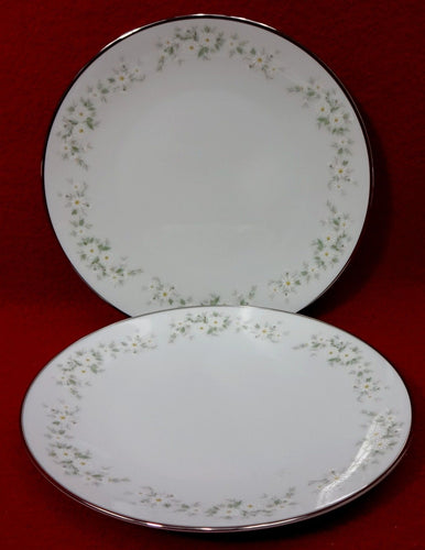 NORITAKE china ANNABELLE 6856 pattern Bread Plate - Set of Two (2) - 6-3/8