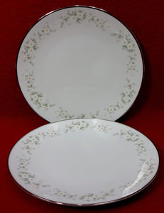 NORITAKE china ANNABELLE 6856 pattern Bread Plate - Set of Two (2) - 6-3/8""