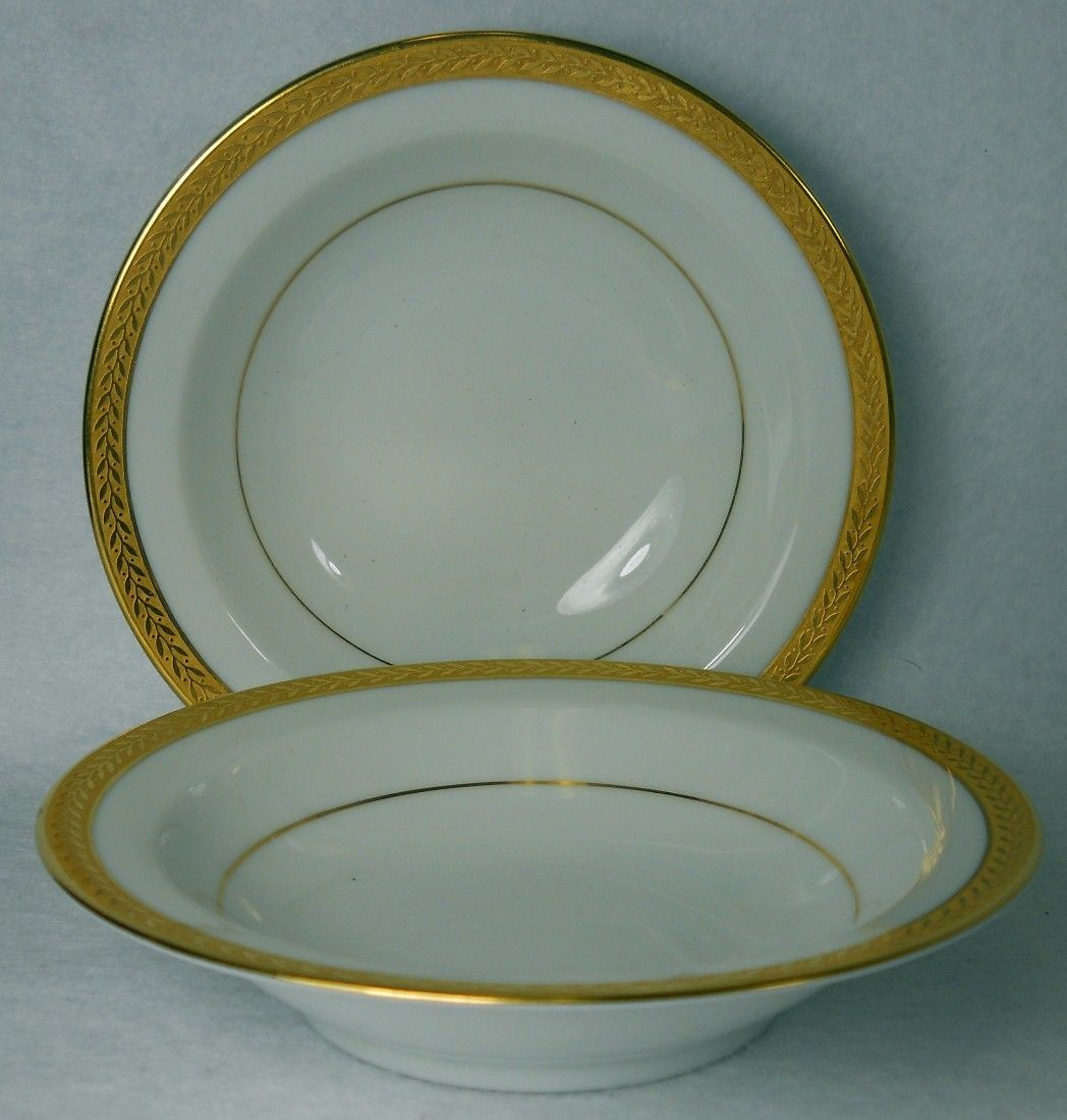 NORITAKE china GOLDREAM Fruit Dessert Sauce Berry Bowl - Set of Two (2) - 5-5/8