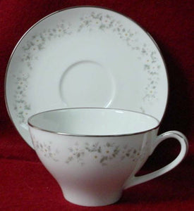 NORITAKE china ANNABELLE 6856 pattern Cup & Saucer Set - 2-3/8""