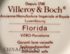 VILLEROY & BOCH china FLORIDA pattern Creamer Cream Pitcher or Jug @ 2-1/2""