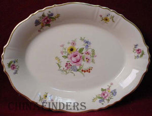 SYRACUSE china PORTLAND pattern OVAL MEAT Serving PLATTER 14""