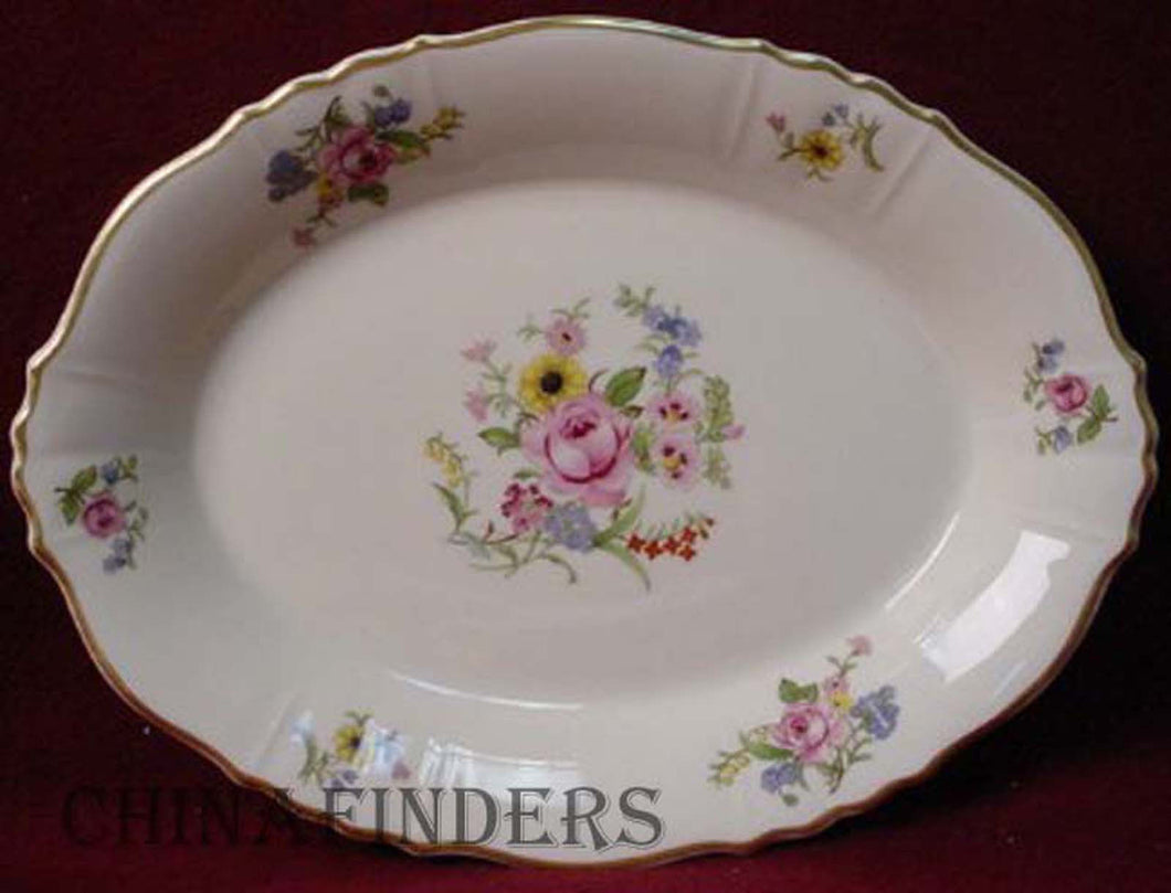 SYRACUSE china PORTLAND pattern OVAL MEAT Serving PLATTER 14