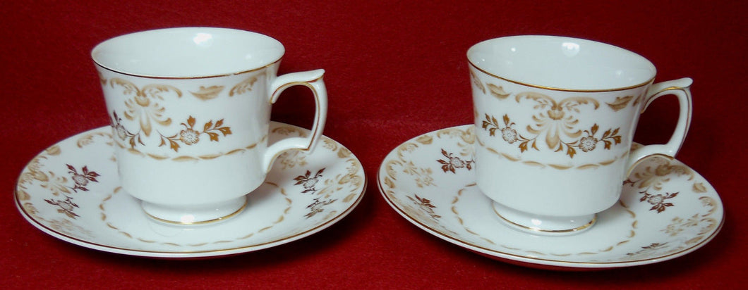 HARMONY HOUSE china CLASSIQUE GOLD pattern Cup & Saucer - Set of Two (2) - 3