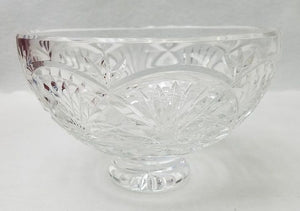 "WATERFORD crystal GIFTWARE Large footed pedestal bowl 8"" across 5 1/4"" tall"
