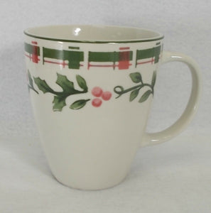 PFALTZGRAFF china CHRISTMAS PLAID pattern Mug