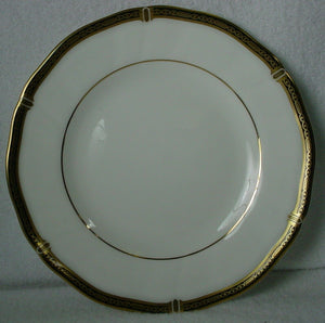 WEDGWOOD china WINDSOR BLACK pattern BREAD PLATE 6-1/8""