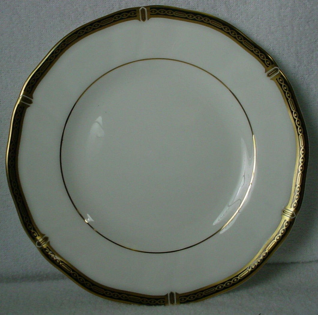 WEDGWOOD china WINDSOR BLACK pattern BREAD PLATE 6-1/8