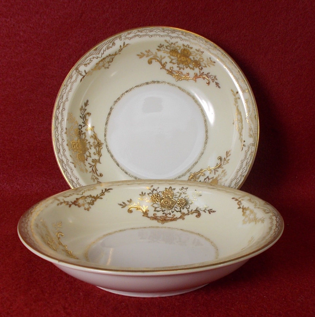 MEITO china MONTEREY (Empire) pattern Set of Two (2) Fruit/Dessert Bowls @5-1/4