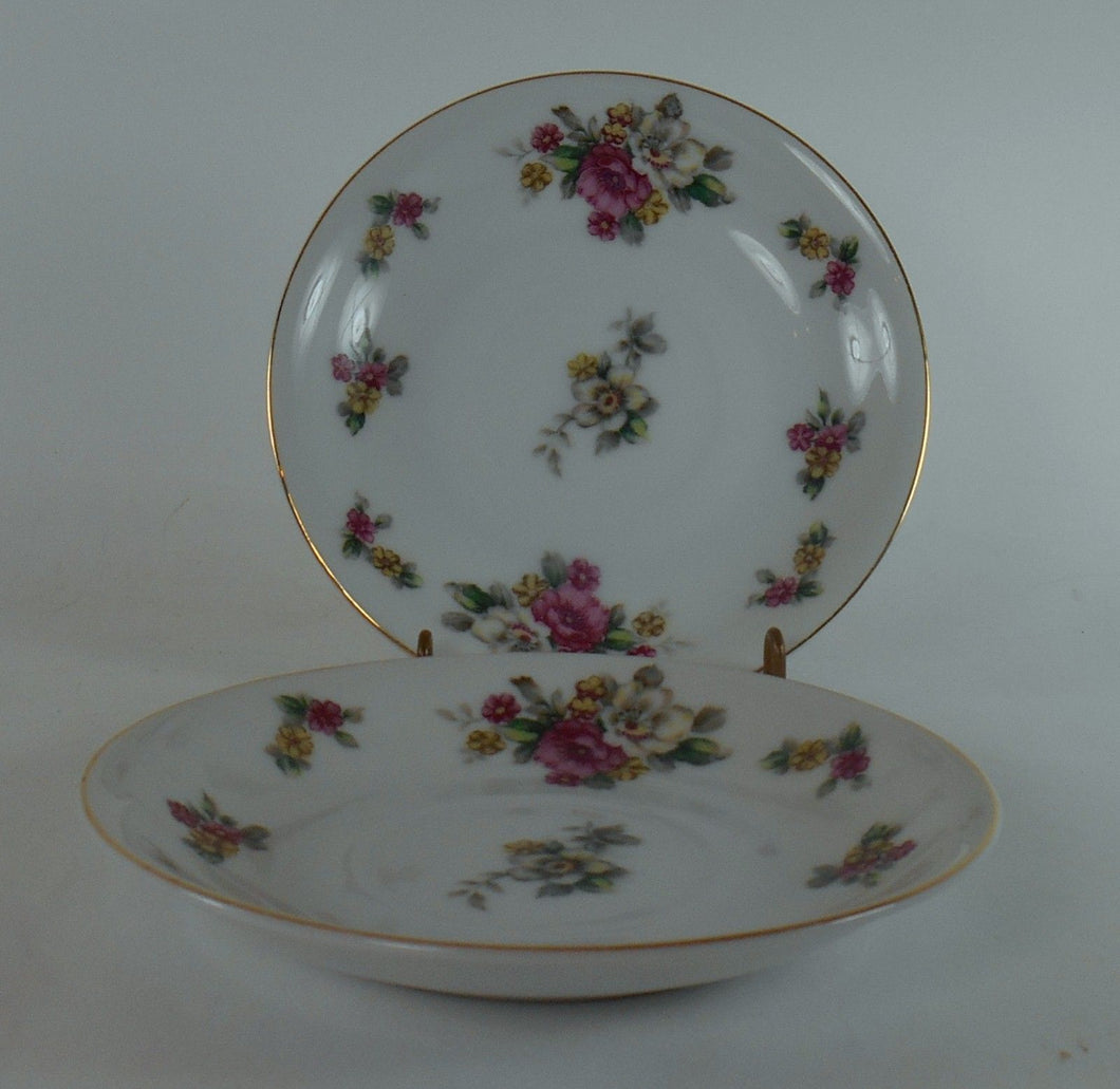 GRACE china APPLE BLOSSOM pattern Set of Two (2) Saucers