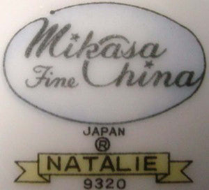 MIKASA china NATALIE BROWN 9320 pattern Cup & Saucer