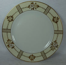 NORITAKE china GOLD ENCRUSTED FLOWERS pattern Set of 4 Salad Plates - 7-1/2""