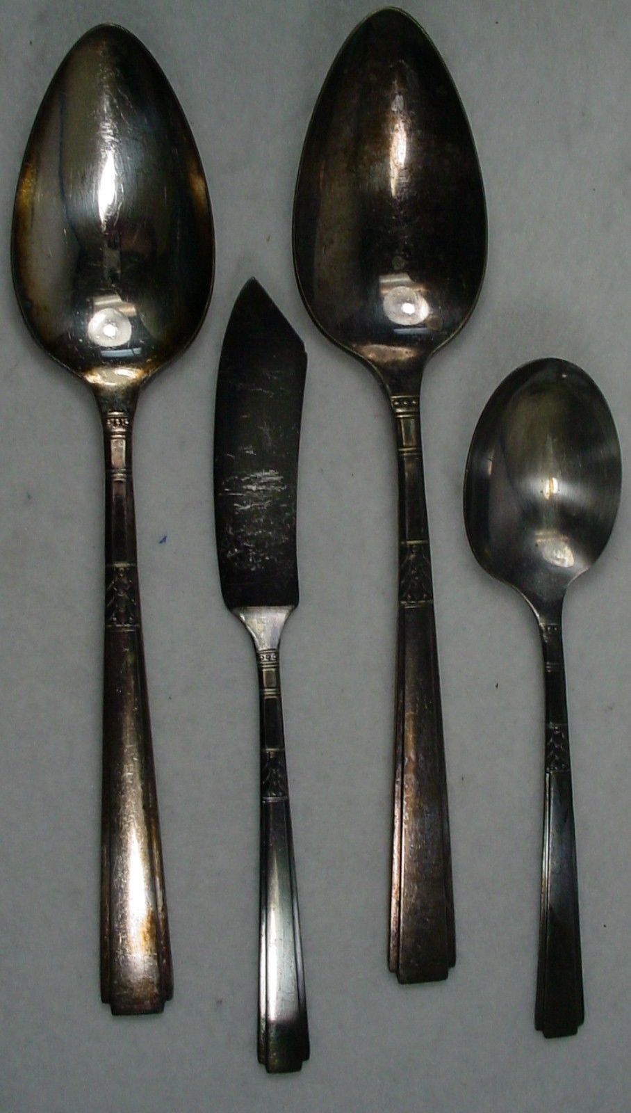 ONEIDA silver CAPRI 1935 silverplate 4-pc HOSTESS SERVING Set