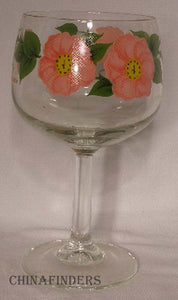 "FRANCISCAN china DESERT ROSE England 12 oz ftd GLASSWARE GOBLET 6-1/2"" set of 2"