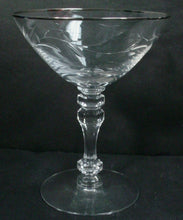 TIFFIN crystal CARILLON pattern Stem 17646 TALL SHERBET CHAMPAGNE Glass @ 5-1/4""