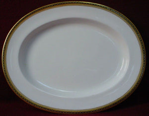"SPODE England china MAJESTIC R436 Oval Serving Platter 16*1/2"" - some scratching"