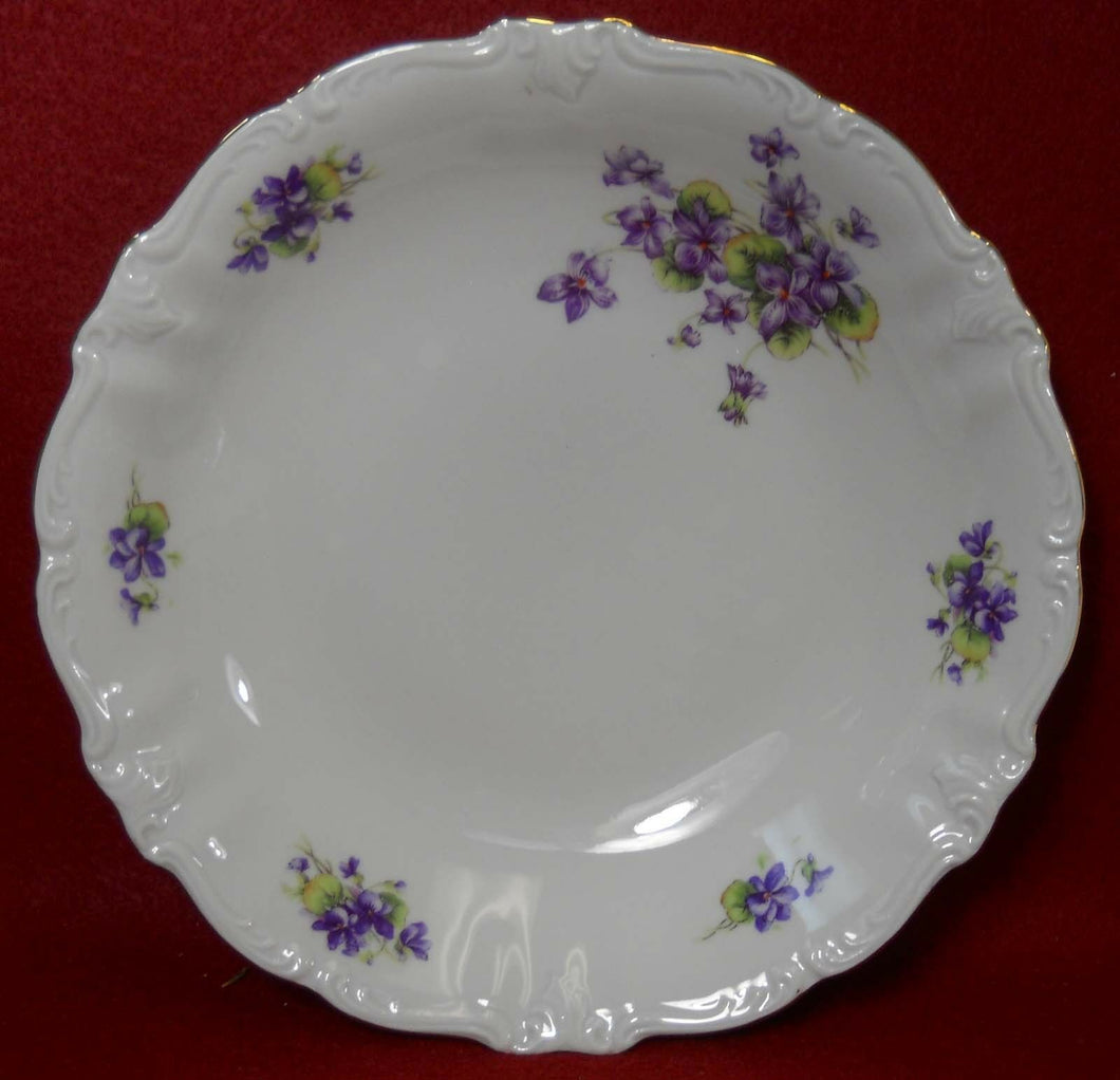 WINTERLING Bavaria VIOLETS pattern Soup or Salad Bowl @ 7-1/2