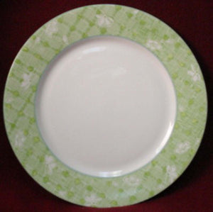 MIKASA china TARTAN GREEN L3121 pattern Dinner Plate