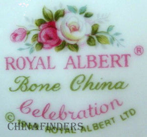ROYAL ALBERT china CELEBRATION pattern Creamer, Cream Pitcher or Jug @ 3-7/8""
