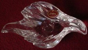 GORHAM crystal Swallow pattern CANDLESTICK Candle Stick Holder