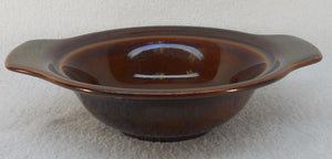 VERNON KILNS (Metlox) china EARLY CALIFORNIA BROWN Lugged Chowder Bowl @7 1/4""