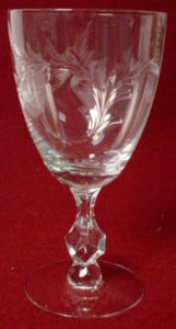 TIFFIN crystal PRINCESS 17524 pttrn WATER GOBLET