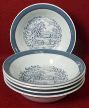 MEAKIN, ALFRED china HOME IN THE COUNTRY Set of 5 FRUIT or Dessert BowlS 5-3/8""