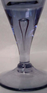 SKUF crystal STOCKHOLM blue smoke WATER Goblet teardrop